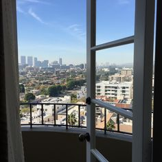 Weekend trip to L.A. - view from the Four Seasons Hotel Los Angeles at Beverly Hills