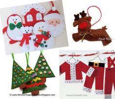 Décorations de Noël en feutrine | Le blog de Tout A Créer