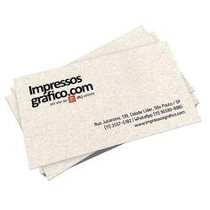 Cartão de visita de baixo custo impresso em papel reciclato (reciclado) com opção de escolher pequenas quantidades, excelente acabamento e ótimo custo-benefício.