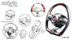 Steering Wheel Design Sketch