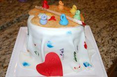 Birthday No 14, girl.  Artist barrel cake, 6 layers rainbow inside, fondant sheet, brush, paints etc
