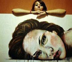 'P.M.' and me. Buy my art www.saatchi.com/valentinadechirico