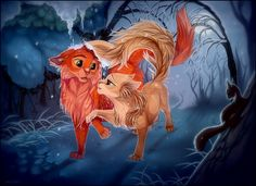 Firestar x Sandstorm this is cute ( it's not my fav couple but this is a cool pic :3 )