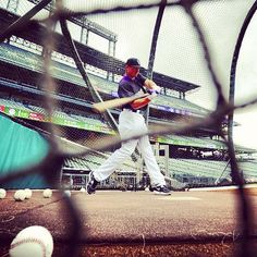 #Pacheco takes his #cuts during #battingpractice