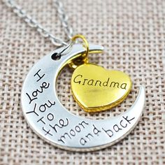 Grandma Necklace - I Love You To The Moon And Back Gold/Silver Offer