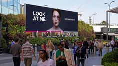 Bruised woman on this billboard heals as people pay attention to her |via`tko Mashable
