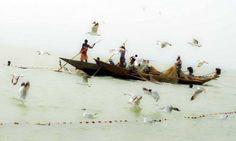 Angela Prati, Pescatori, Lago Chilika, Regione di Orissa, India, 2005, Alinari Contemporary