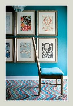 DRESS YOUR WALLS ON A DIME BY FRAMING WALLPAPER SAMPLES...