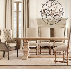 Trestle Salvaged Wood Extension Dining Tables Via Restoration Hardware Room Furniture Design