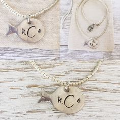 When the day is getting you down, just keep swimming...#beachwedding #fishjewelry #bridesmaidgift #fishnecklace