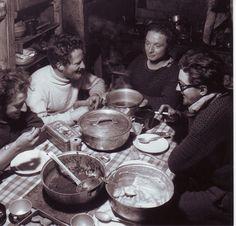 Repas entre hivernants, Bernard Izabelle, mon oncle en bout de table