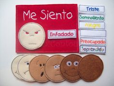 Spanish Feelings Felt Chart Emotions chart by MiniContour on Etsy, $15.00