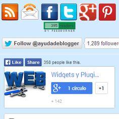Widgets para Blogger, entre ellos Pinterest– Caja de suscripción para Blogger ,