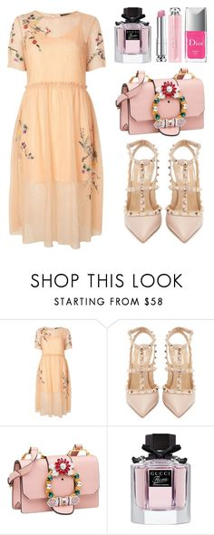"""Summer date"" by junechristina ❤ liked on Polyvore featuring Topshop, Valentino, Miu Miu, Gucci and Christian Dior"