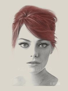 Stunning! Sometimes it only takes a single color to make a big impact. #emmastone #redhead (photo credit @keimeguro)