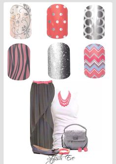 Jamberry nails wraps are easy, fast and lasts up to two weeks. There are over 300 designs to mix and match. Contact me at themagicofjams@yahoo.com