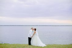 This gorgeous waterfront wedding at Patriots Point outside of Charleston, SC