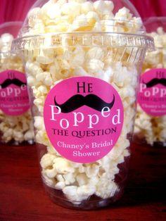 bridal shower idea; haha! I love popcorn!