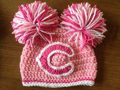 Girls Chicago Bears Crocheted Hat on Etsy, $25.00