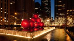 "See New York City come alive with holiday spirit and go <a href=""http://www.travelchannel.com/interests/holidays/photos/christmas-crazy"">Christmas crazy</a> with some of the biggest and brightest light displays, including this one on Sixth Avenue."