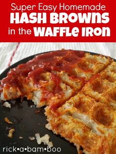 Super Easy Hash Browns in the Waffle Iron on MyRecipeMagic.com