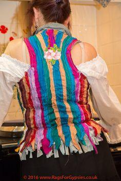 Rainbow Gypsy Waistcoat Bohemian Alternative by RagsForGypsies