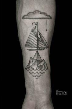 Les tatouages en pointillisme de Brezinski Ilya