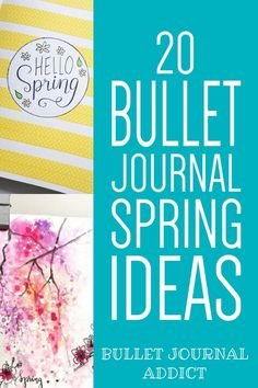 Bullet Journal Spring Theme Ideas - Spring Bullet Journal Inspiration and Ideas - Monthly Spreads, Cover Pages, and Layouts For Spring #bulletjournal #bulletjournalspreads #bujolove #bulletjournallayouts #springspreads #bujospreads #bujolayouts