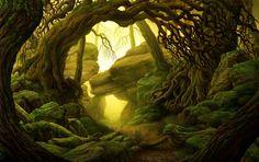 MARCO FERRARA artist - illustrator: CONCEPT ART: FOREST
