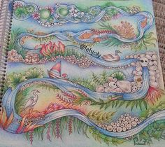 Enchanted Forest --> If you're looking for the most popular coloring books… Secret Garden Coloring Book, Coloring Book Art, Adult Coloring Book Pages, Colouring Pages, Enchanted Forest Book, Enchanted Forest Coloring Book, Johanna Basford Books, Johanna Basford Coloring Book, Faber Castell