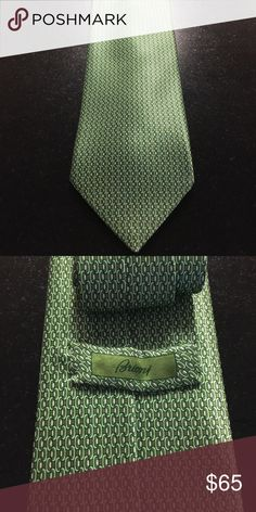 Brioni Tie - NWOT Never worn. Green silk tie by luxury brand Brioni. Classy and elegant -- an excellent gift for the special man in your life! Brioni Accessories Ties