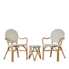 Bordeaux Rattan Bistro Furniture Set of 3 - Mercer + Reid