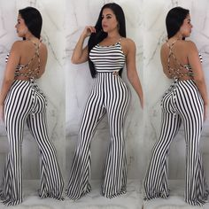 6209271a653e Womens Clubwear Playsuit Bodysuit Party Jumpsuit Romper Chiffon Long  Trousers  fashion  clothing  shoes