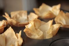 Ever since I discovered Phyllo sheets , have gone bonkers making so many of those finger licking food with crispy wraps - Phyllo cups with...