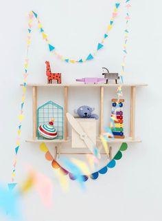 Original ideas wood: aircraft-shelf