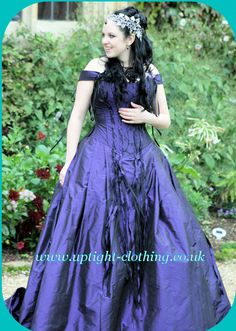 Uptight Clothing  Awesome purple brides dress!!