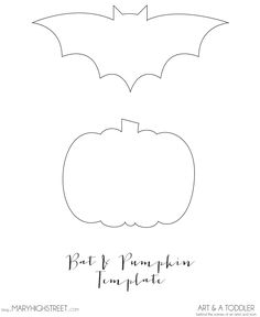 Bat and Pumpkin Template || Halloween Crafts for Toddlers || Art and a Toddler: Behind the Scenes of an Artist and Mom || Bat, Pumpkin, Glitter, Art, Painting, Paint, Toddler, Foot Print, Ghost, Keepsake, memory, halloween, october, goggly eyes, purple, orange, white, craft, mom, artist,