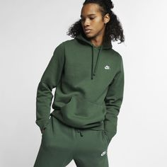 ade81b716 Nike Sportswear Club Fleece Men's Hoodie Size XS (Fir) Hooded Jacket, Hoods,