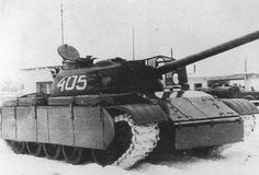 Polish T-54 with experimental addition armor which supposed to protect tank from RPG missiles