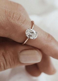 Simple engagement rings simple and minimalist oval diamond cut engagement ring tear silver rings white gold Wedding Rings Simple, Wedding Rings Solitaire, Wedding Rings Vintage, Bridal Rings, Vintage Engagement Rings, Diamond Wedding Bands, Diamond Rings, Tear Drop Wedding Ring, Oval Diamond