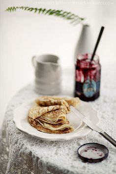 A Favorite French Dish: Crepes ! Served commonly as a breakfast dish, but also available as a snack in many restaurants or food stands in France !