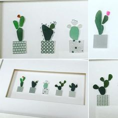 Sea glass succulents cacti and cactus by UK artist Rachel Bellman originator of the sea glass cactus meme using genuine sea glass Sea Glass Crafts, Sea Crafts, Sea Glass Art, Seashell Crafts, Sea Glass Jewelry, Mosaic Glass, Mosaic Mirrors, Mosaic Art, Broken Glass Crafts