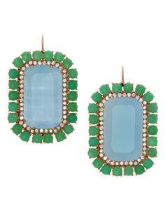 Ete Aquamarine & Prehnite Earrings by Shawn Warren Jewelry on Gilt.com