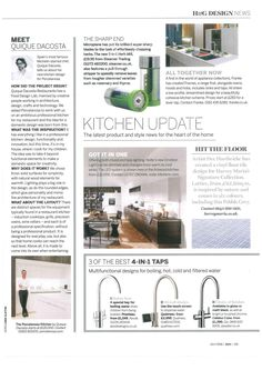 Homes and Garden magazine have chosen our new innovative hot tap range Pronteau in their three of the best feature. How To Remove, Home And Garden, Range, Homes, Magazine, Projects, Design, Log Projects, Cookers