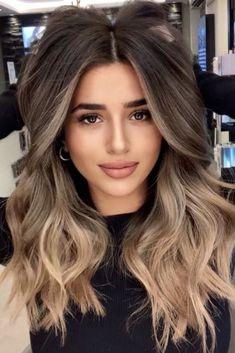Medium Length Ombre Hair, Long Ombre Hair, Brown To Blonde Ombre Hair, Brown Hair Balayage, Hair Color Balayage, Short Hair, Ombre Hair Colour, Brown Ombre Hair Medium, Carmel Ombre Hair
