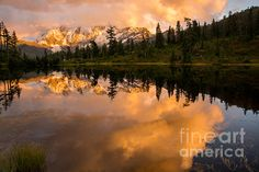 Picture Lake 1 by Sabine Edrissi - an almost unbelievably beautiful image at Fine Art America.