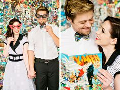 Nerdy Find of the Day: Comic Book Anniversary Shoot | nerd weddings