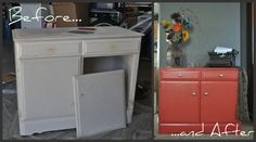 I refurbished this piece of furniture last Summer.  Probably my favorite piece yet!  It is currently being used as a changing table for my niece Stella Rose arriving in August!