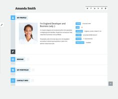 Wordpress Resume Theme This WordPress Vcard Theme Offers A Working Contact Form A .