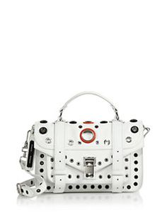 Proenza Schouler - PS1 Tiny Grommeted Leather #Satchel.